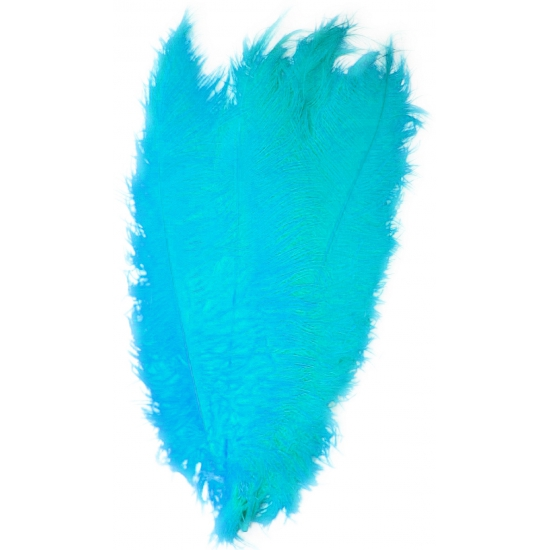 Turquoise decoratie veren 50 cm