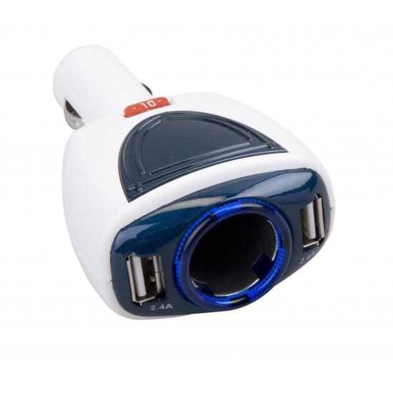 USB auto oplader voor 2 telefoons