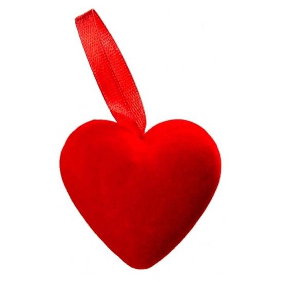 Valentijn decoratie 6 rode hartjes