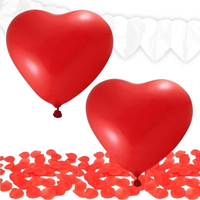 Valentijn decoratie pakket rood-wit
