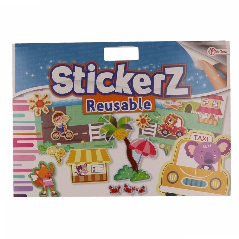 Speelgoed diversen Bandana winkel Verkeer autoraam stickertjes Taxi