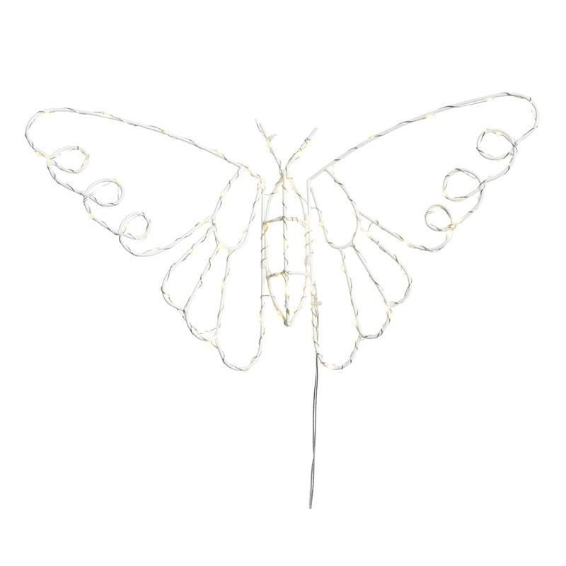 Verlichte hangdecoratie vlinder 45 cm