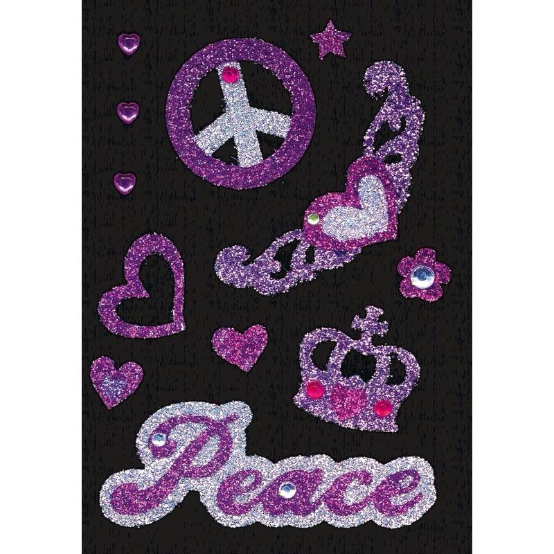Versier stickers peace strass
