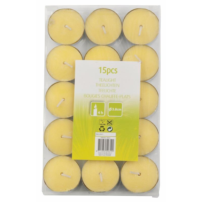 Geen Voordelige citronella kaarsjes 15 stuks Tuin artikelen