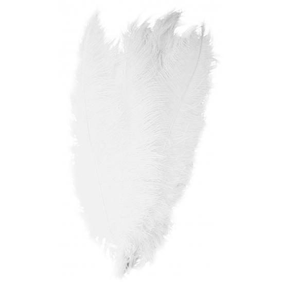 Witte decoratie veren 50 cm