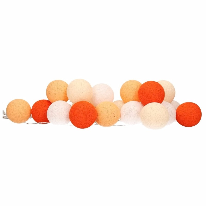 Woondecoratie lichtsnoer oranje