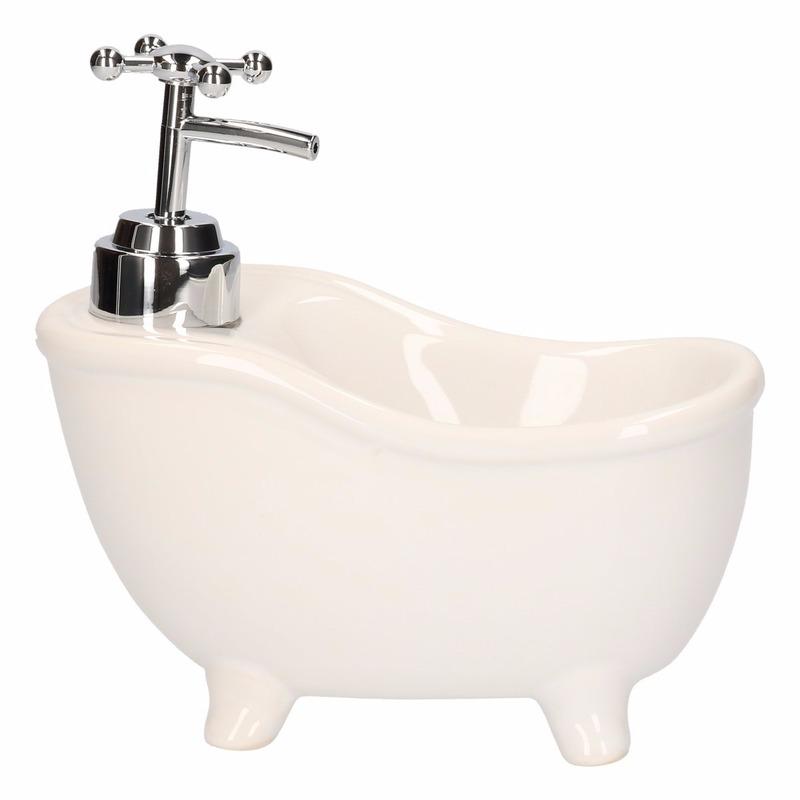 Zeep dispenser in de vorm van een bad