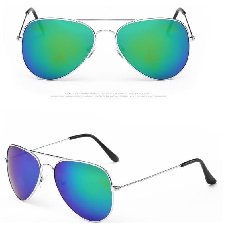 Zilveren aviator bril voor dames-heren