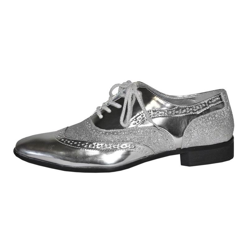 Chaussures Hommes D'argent Avec Des Lacets GF7mv