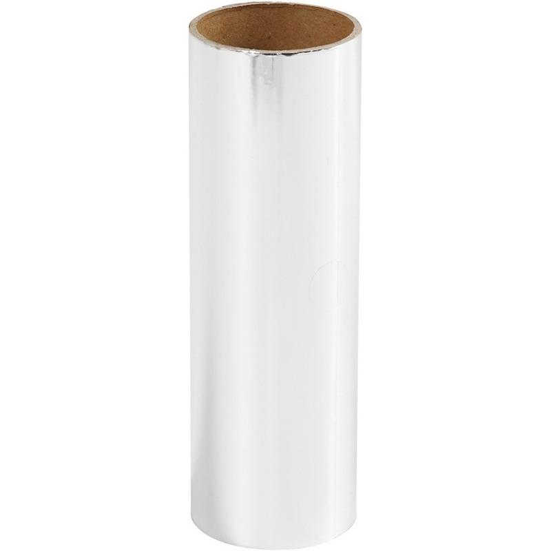 Zilveren hobby decoratiefolie 50 cm