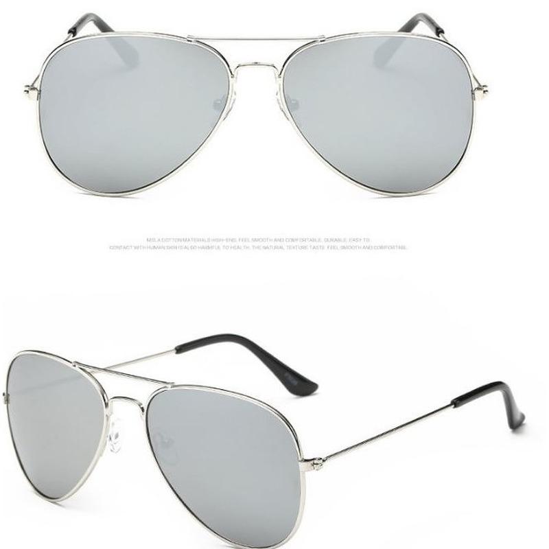 Zilverkleur aviator bril voor dames-heren