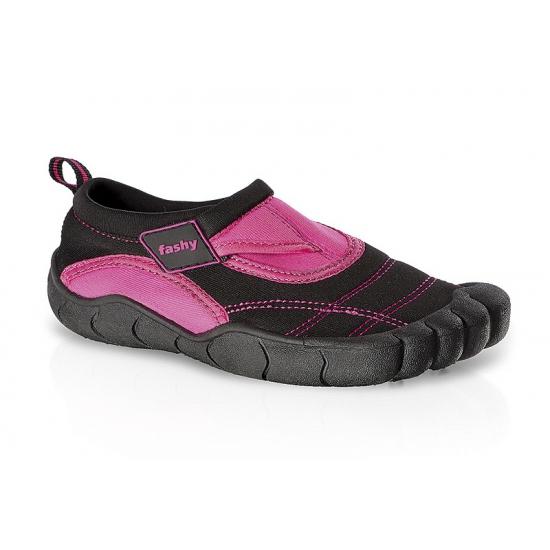 Zwart-roze kids waterschoenen watersport