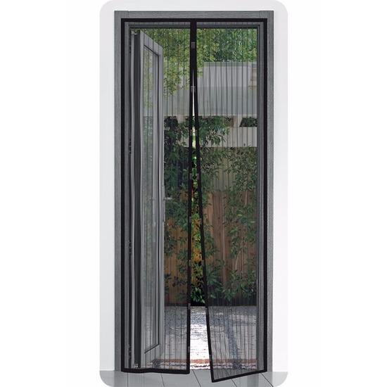 Zwarte camper deur horren met klittenband 210 x 50 cm Pro Plus Tuin artikelen