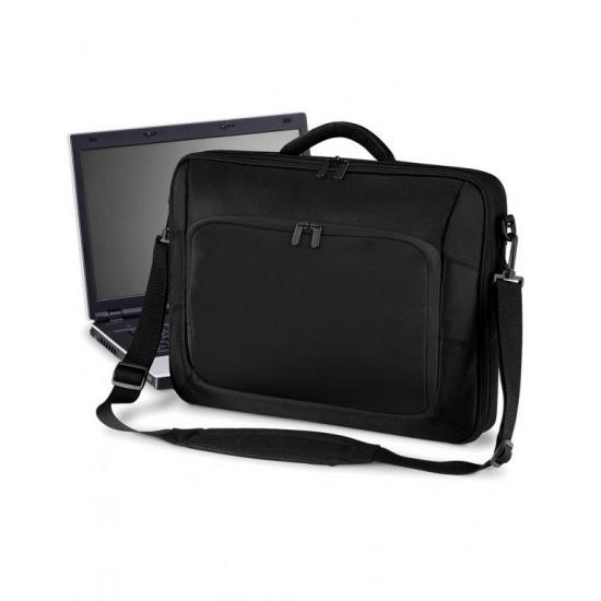 Zwarte laptop tas 10 Liter