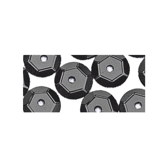 Zwarte pailletjes 6 mm 500 stuks