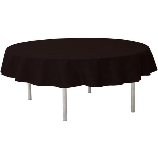 Zwarte tafeldecoratie versiering rond stoffen tafelkleed 240 cm