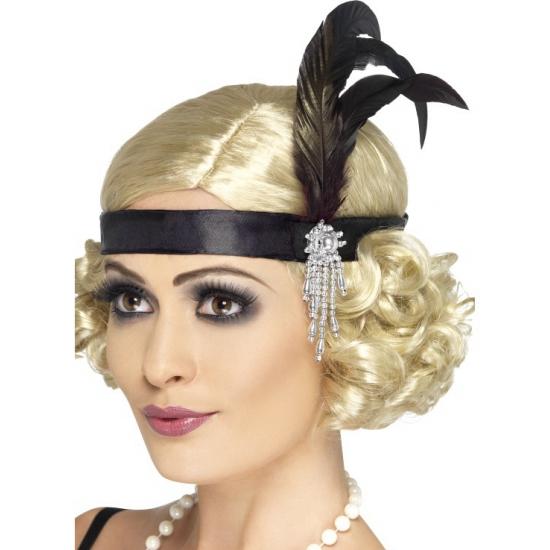 Zwarte veren hoofdband