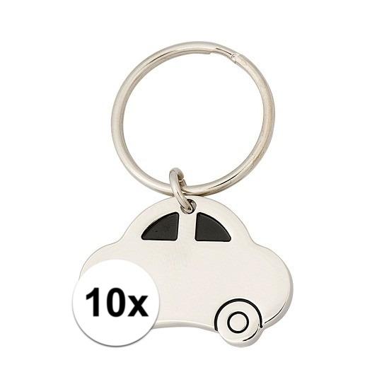 10x Sleutelhanger rijbewijs cadeau 4,5 cm Cadeau /feestartikelen/jub-geslaagd-familie/rijbewijs