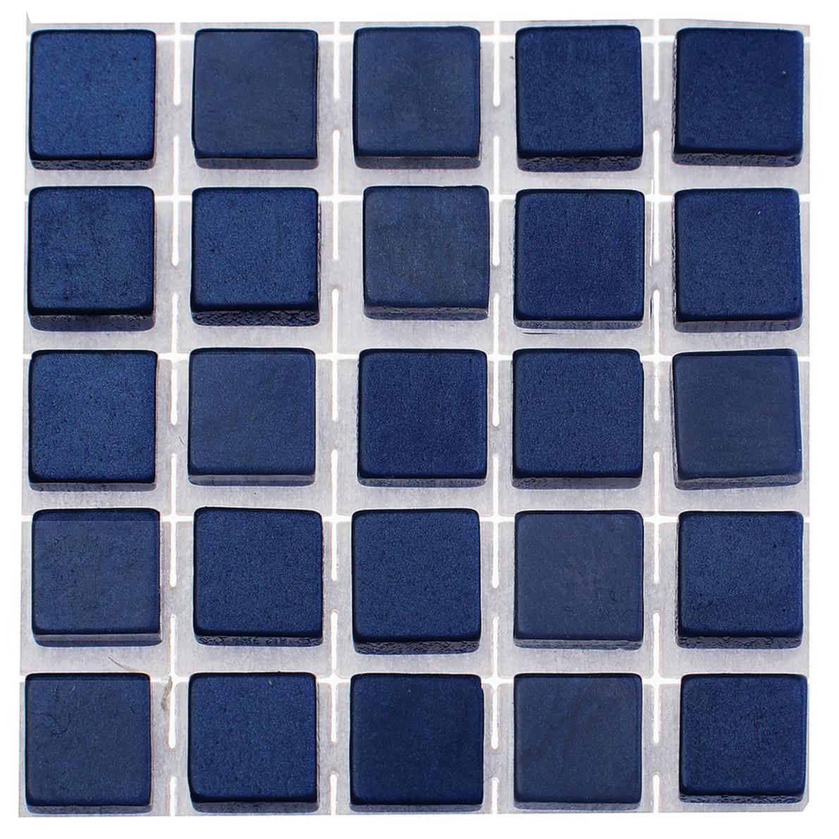 119x stuks mozaieken maken steentjes-tegels kleur donkerblauw 5 x 5 x 2 mm