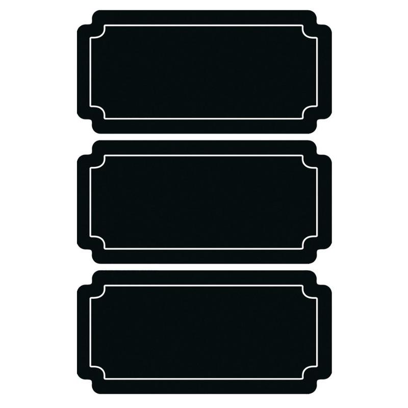 18x Beschrijfbare etiketten-labels-stickers krijtbord herbruikbaar