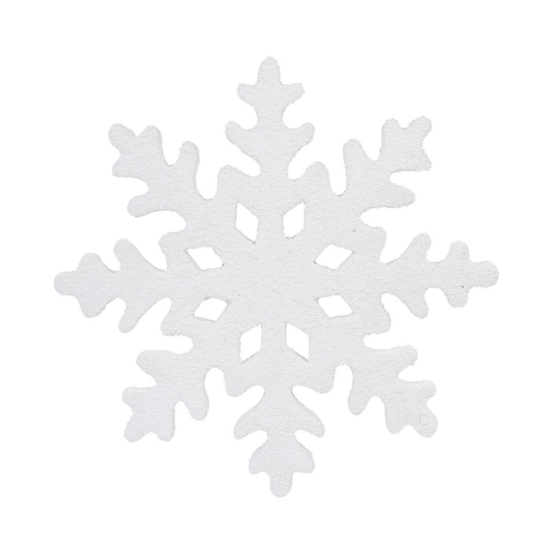 1x Grote witte ijsbloemen-sneeuwvlokken kerstversiering-kerstdecoratie 25 cm