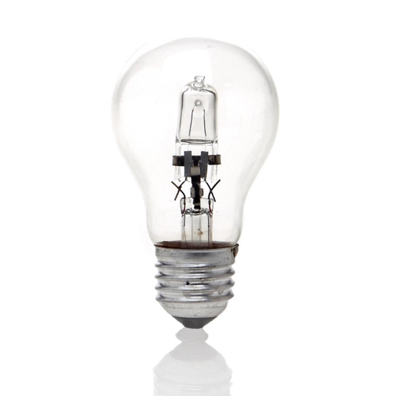 1x Halogeen lampjes lampenbolletjes E27 fitting 18W sfeerlampen