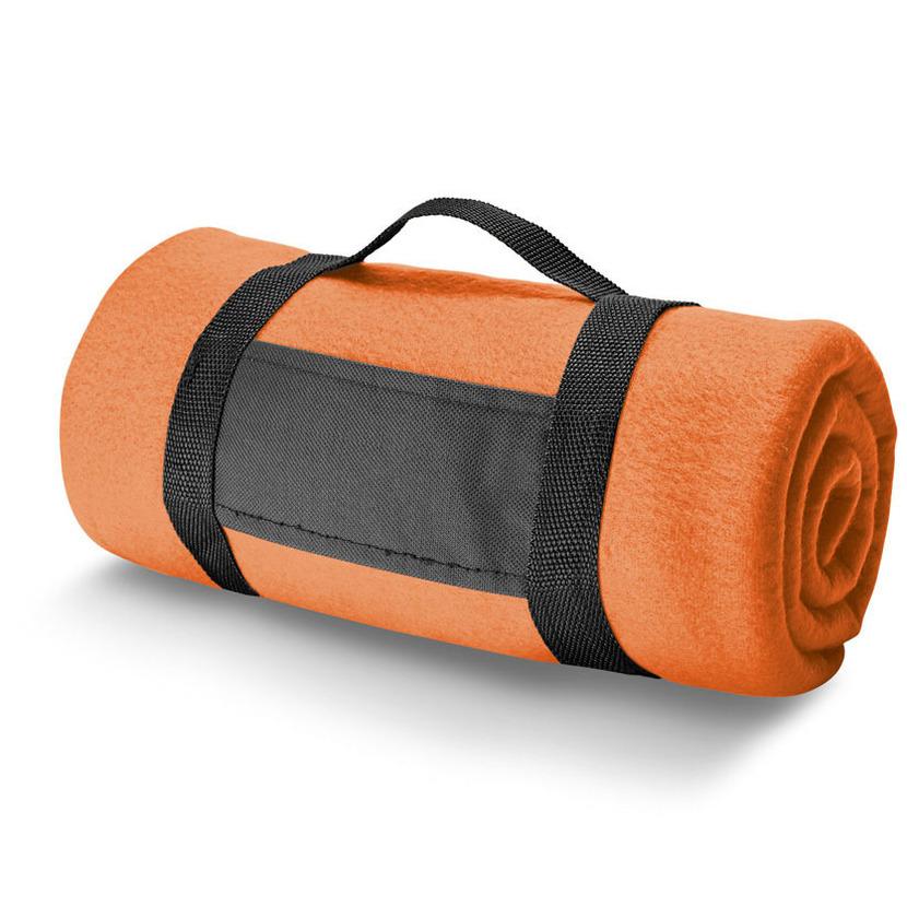 1x Woondekens-bankdekens oranje 120 x 150 cm