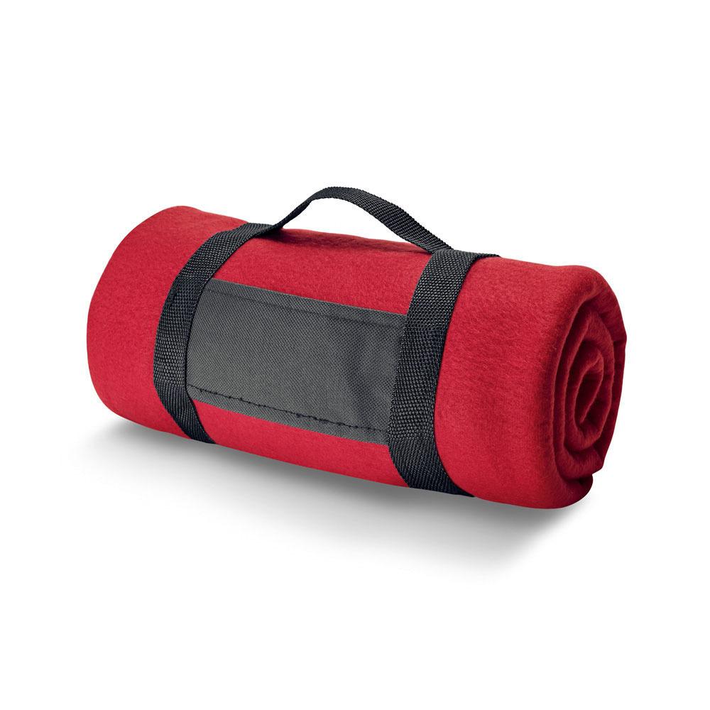 1x Woondekens-bankdekens rood 120 x 150 cm