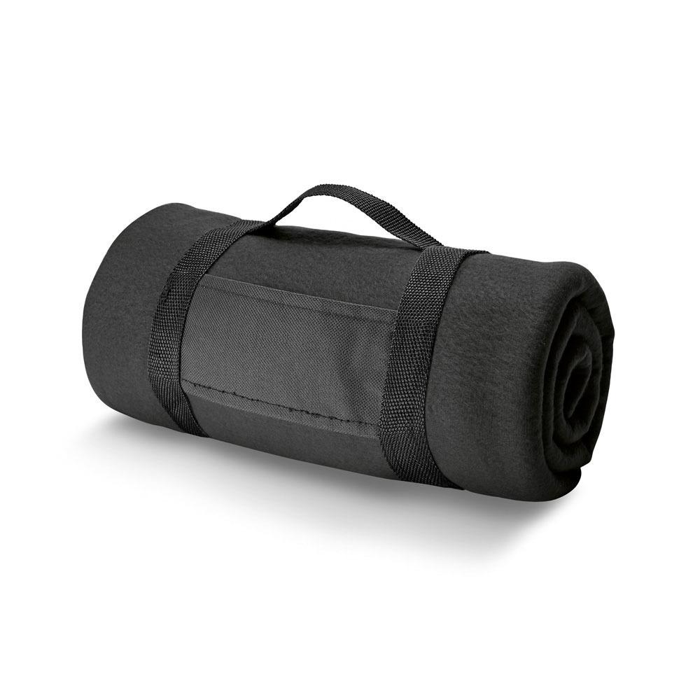 1x Woondekens-bankdekens zwart 120 x 150 cm