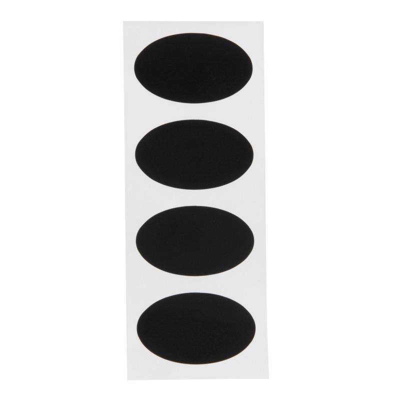 8x Beschrijfbare etiketten-labels-stickers 8 cm herbruikbaar