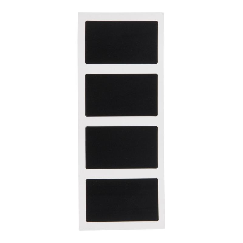 8x Krijtbord memostickers rechthoek 8 cm
