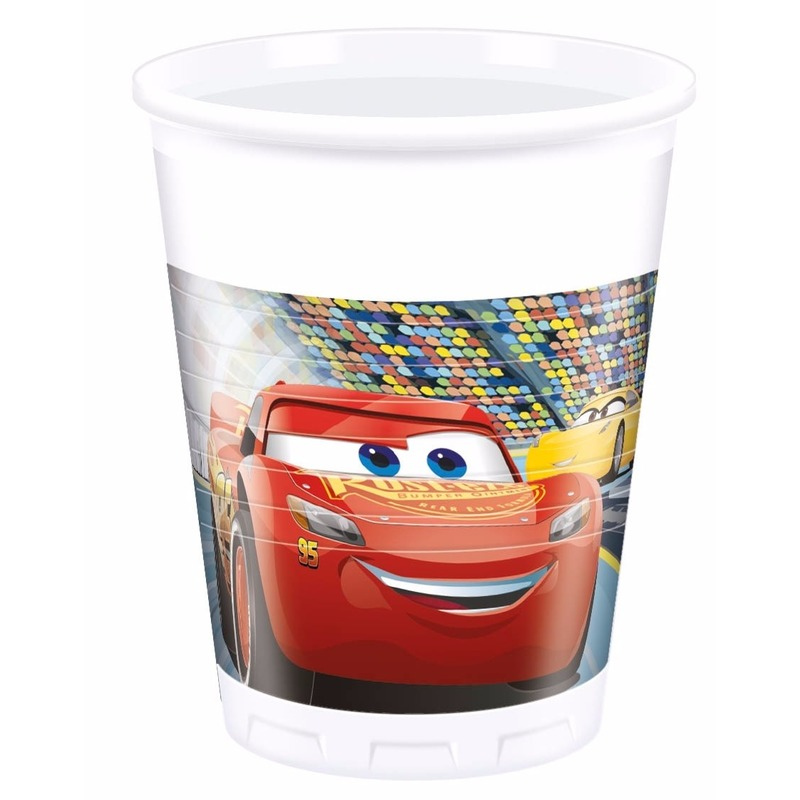 8x stuks Disney Cars feest bekers 200 ml