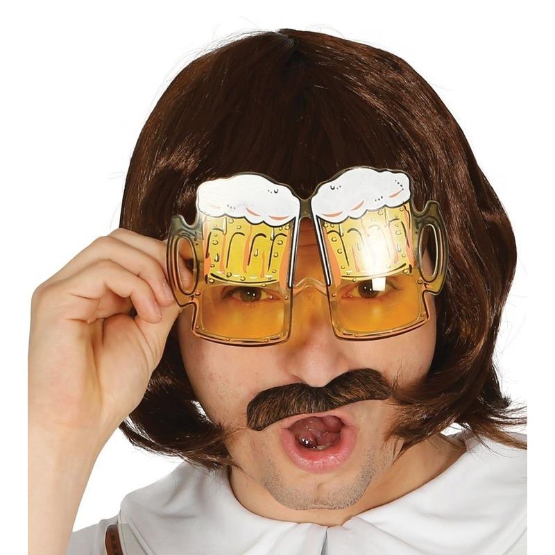 Bier pullen verkleed bril voor volwassenen