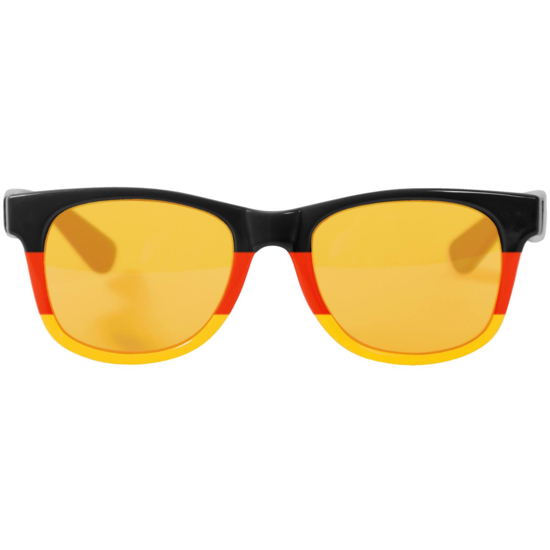 Blues type verkleed bril zwart, rood en geel