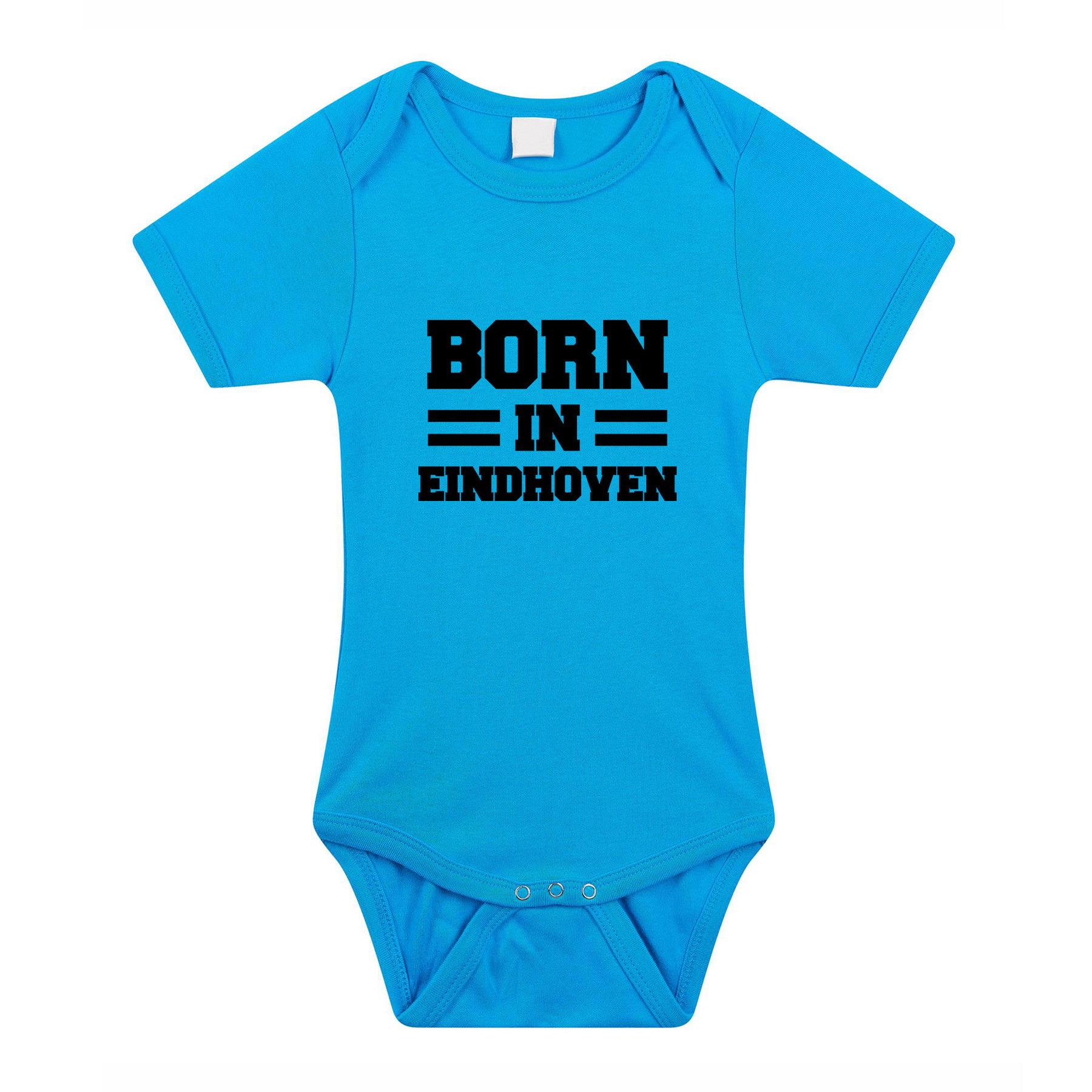 Born in Eindhoven cadeau baby rompertje blauw jongens