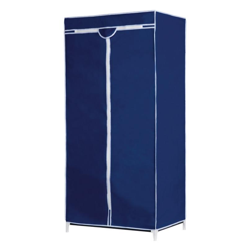 Campingkast met blauwe hoes 160 cm