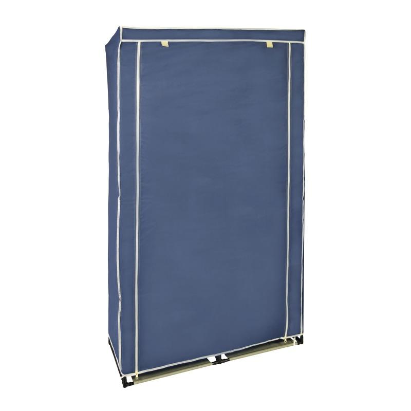 Campingkast met blauwe hoes 169 cm