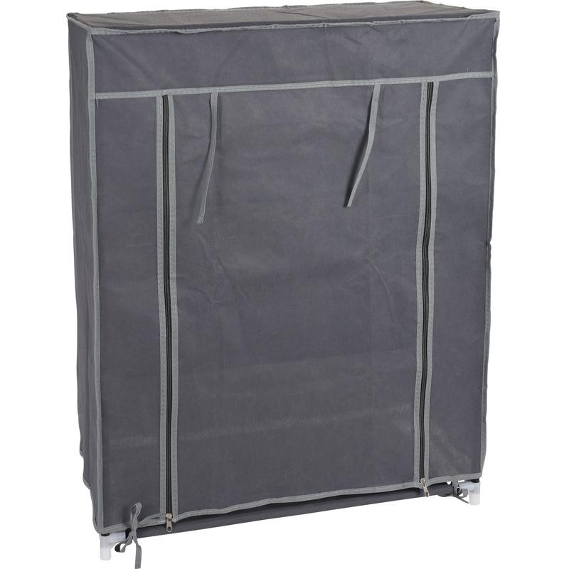 Campingkast met grijze hoes 80 cm
