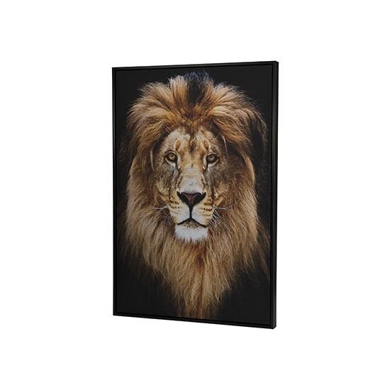 Canvas schilderij 90 x 60 cm leeuwen print