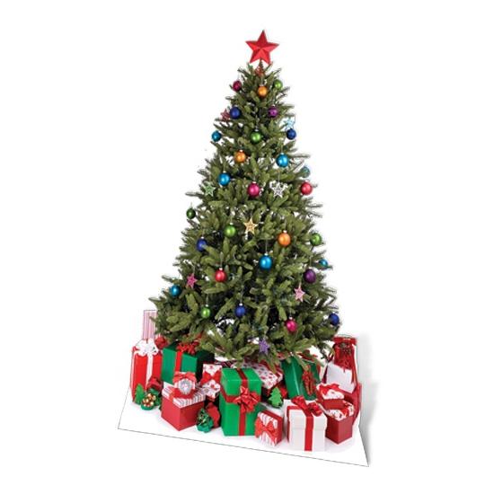Cutout bord Kerstboom