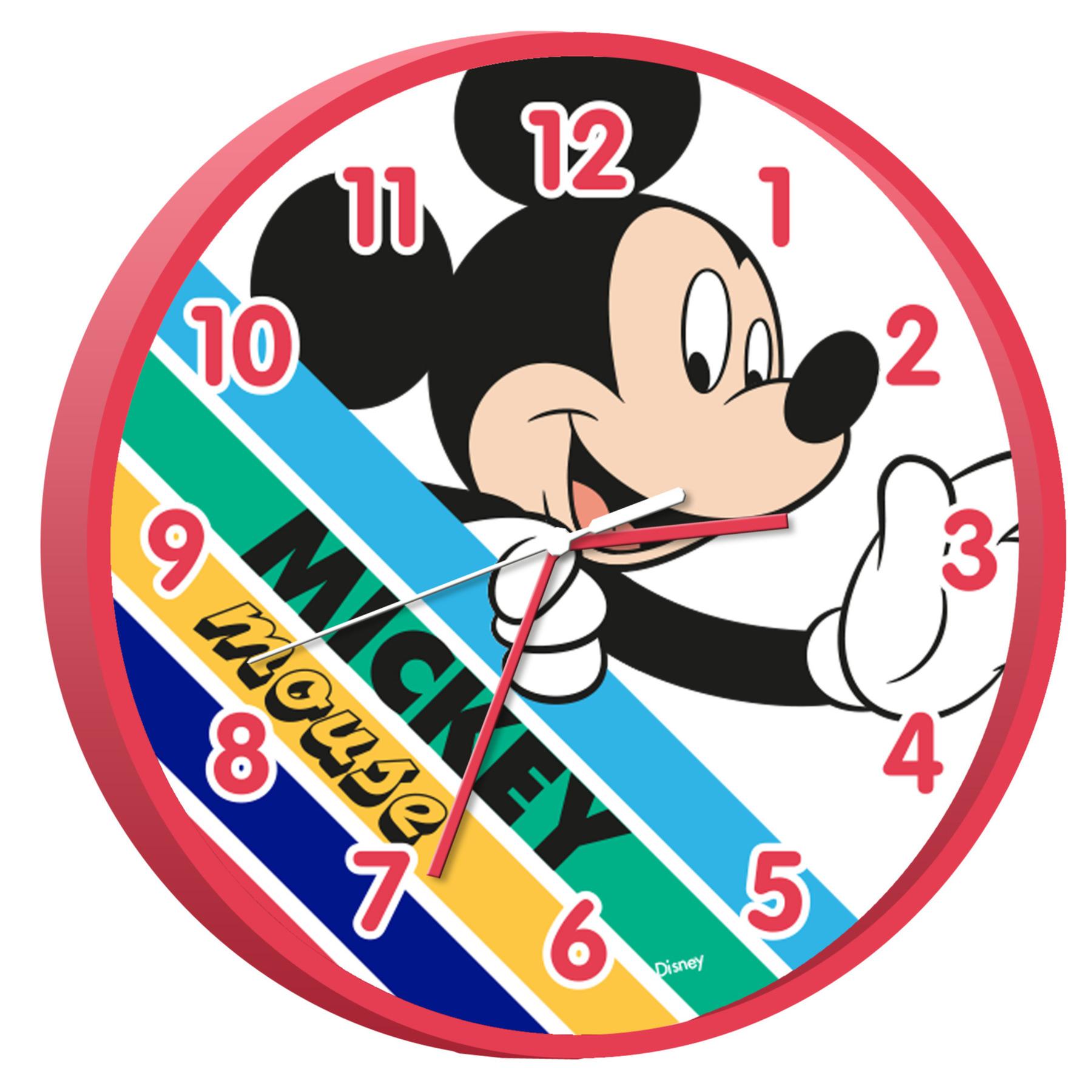Disney Mickey Mouse wandklok 25 cm voor kinderen