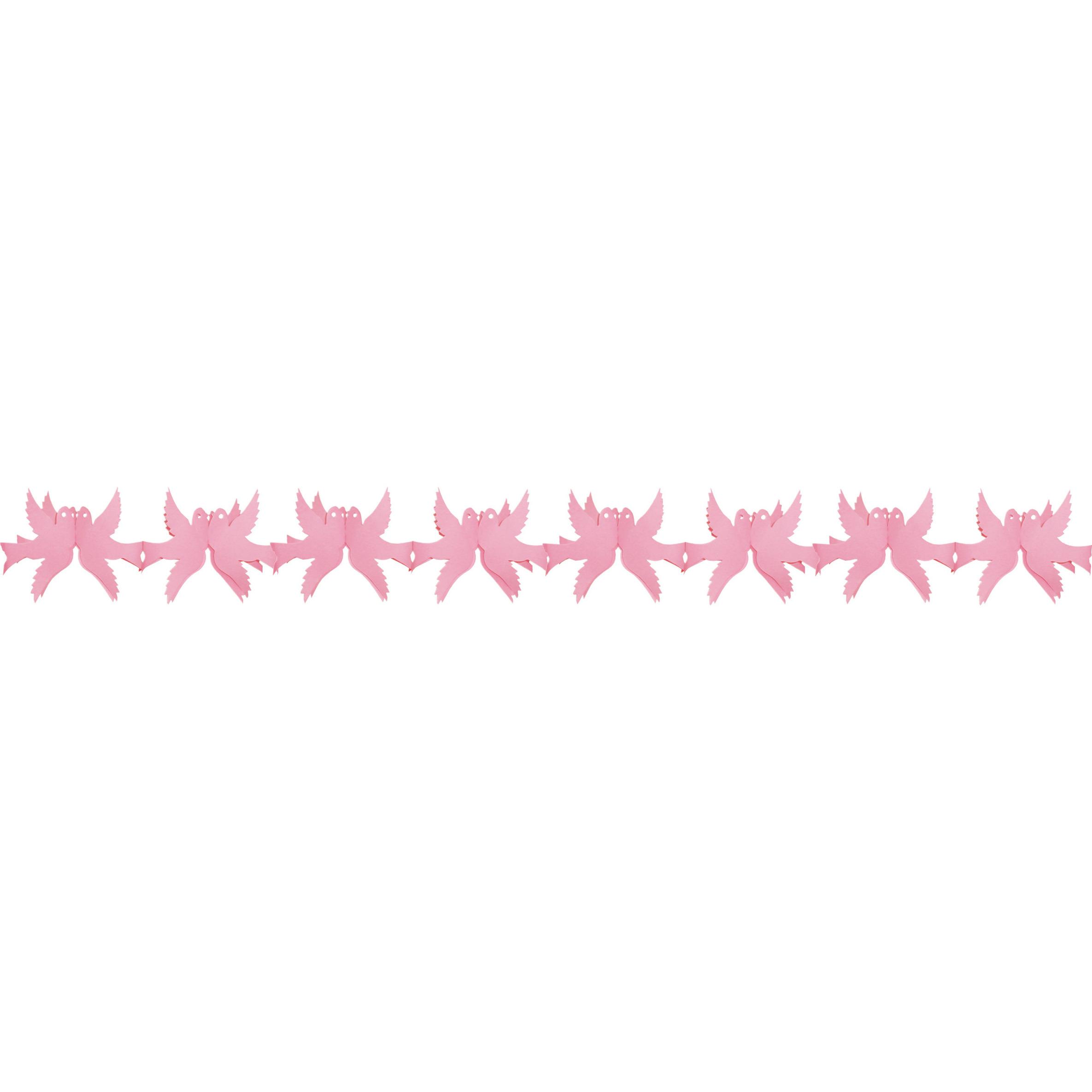 Duiven slinger roze