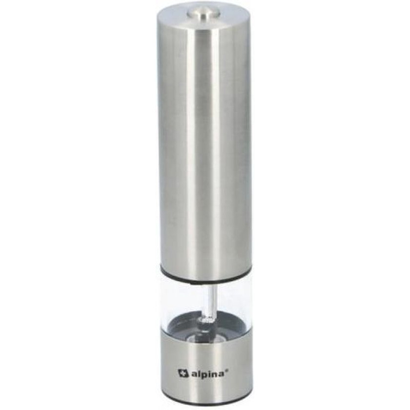 Elektrische RVS zout- of pepermolen met verlichting 5 x 22 cm