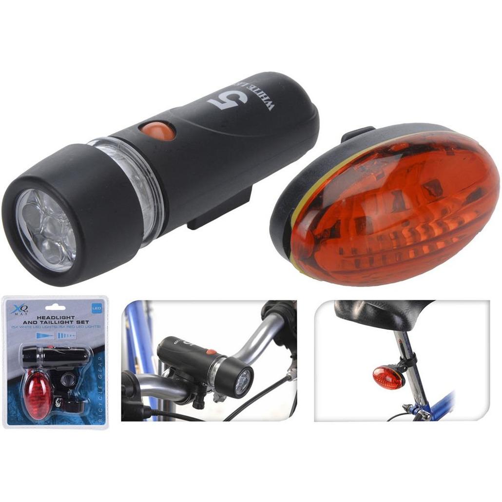 Fiets verlichting set voor en achter LED