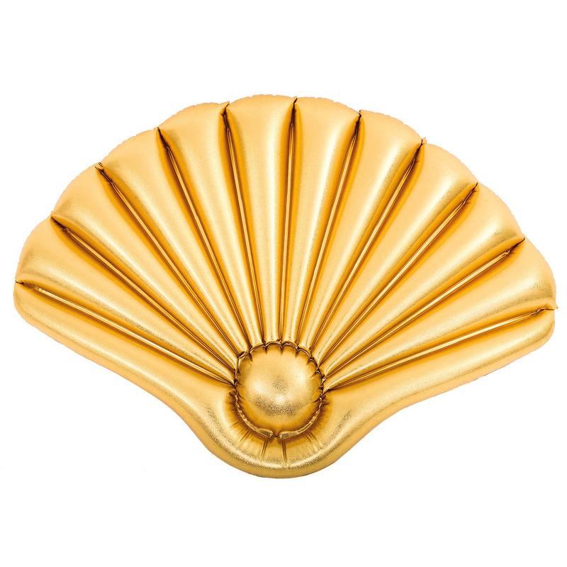 Gouden schelp kinder luchtbedden 90 cm