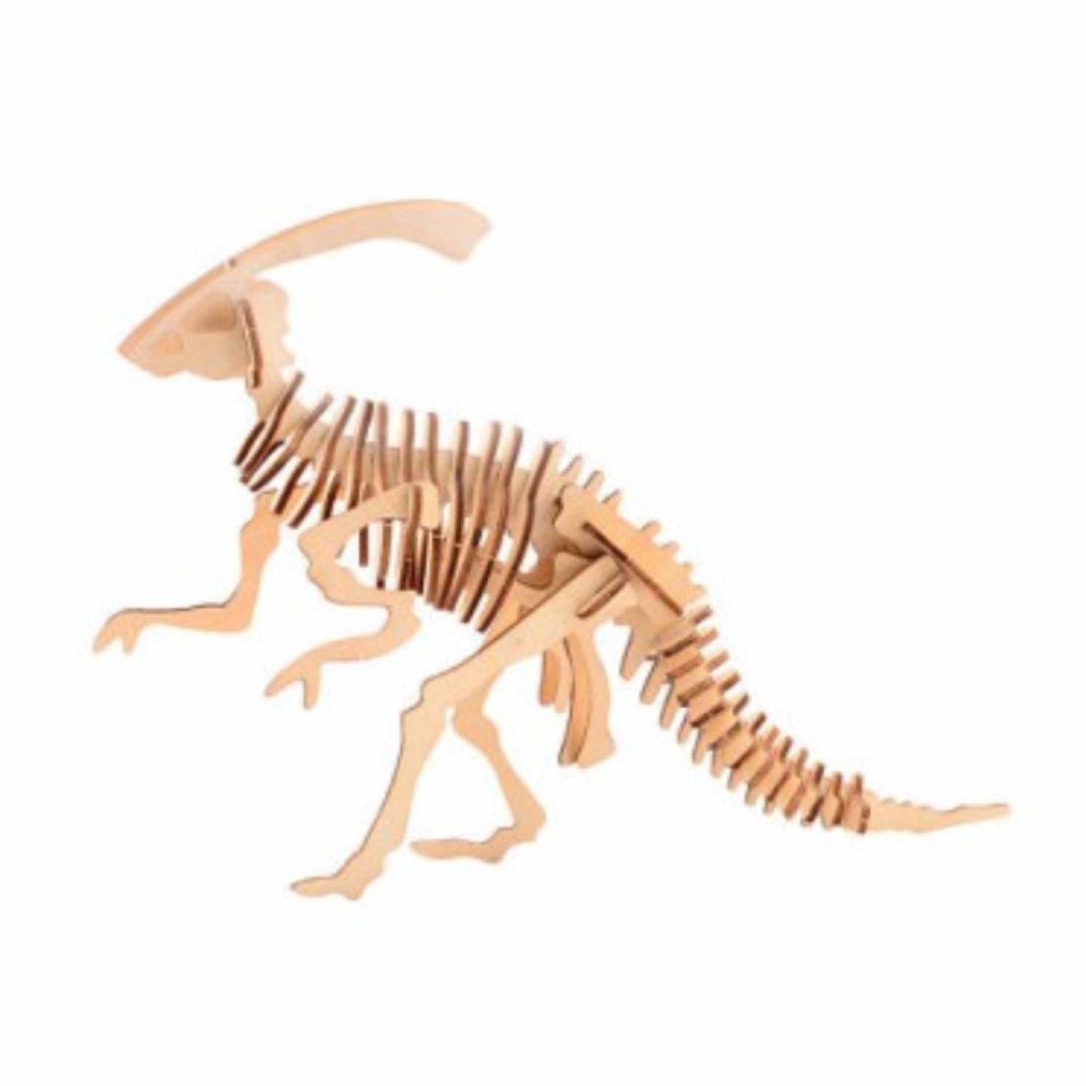 Houten 3D puzzel dinosaurus Parasaurolophus 21 cm