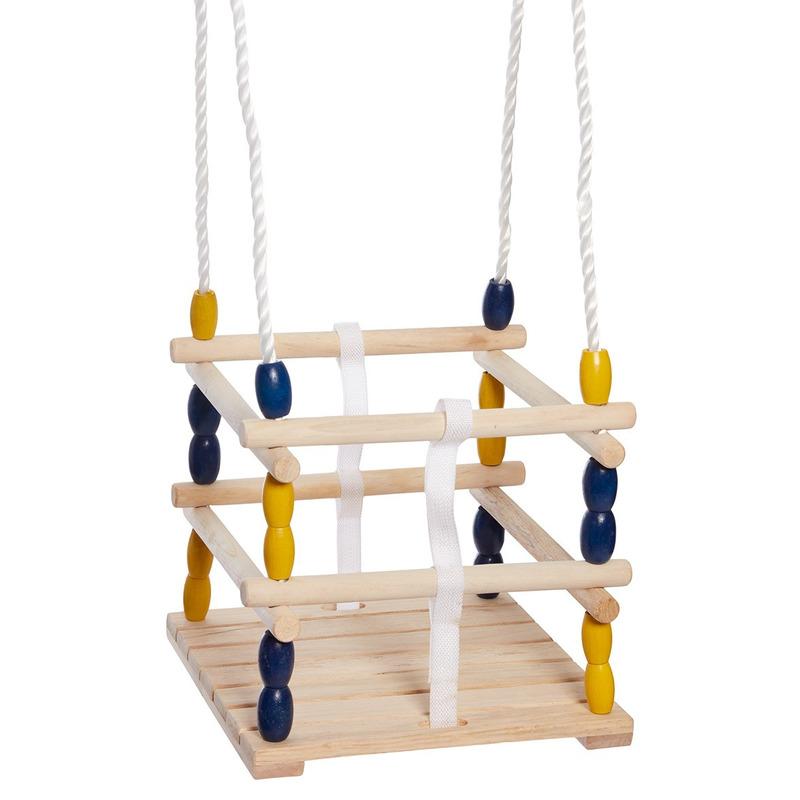 Houten baby-dreumes-peuter schommel 30 x 30 cm