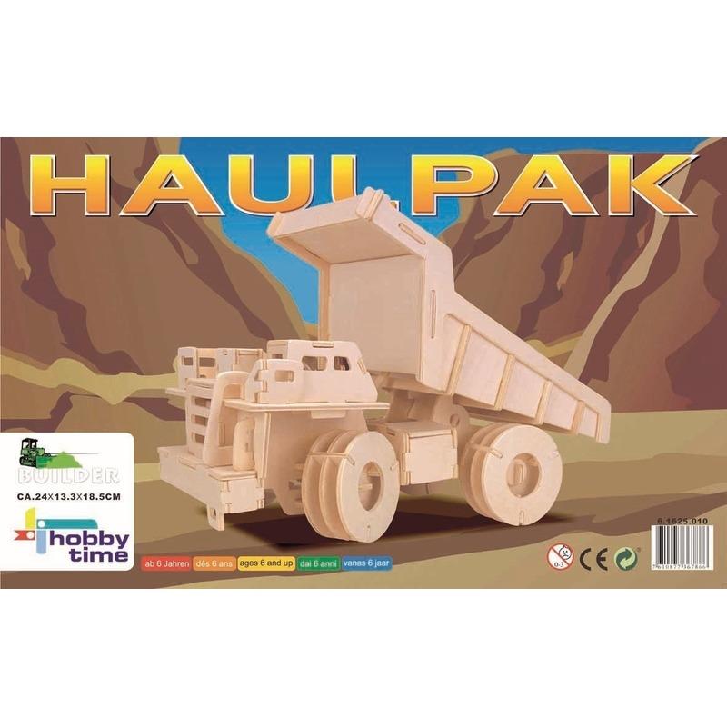 Houten bouwpakket vrachtwagen 95 stukjes