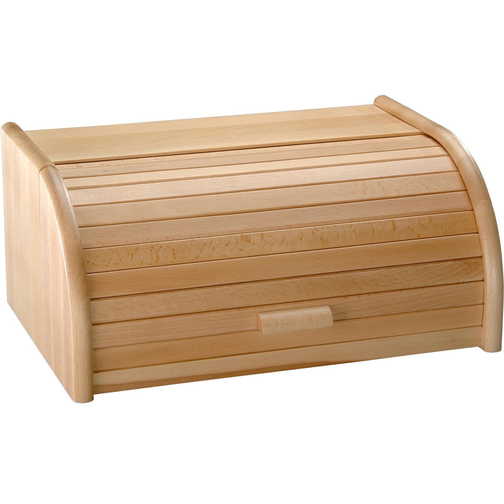 Houten broodtrommel met rolluik 20 x 30 x 15 cm