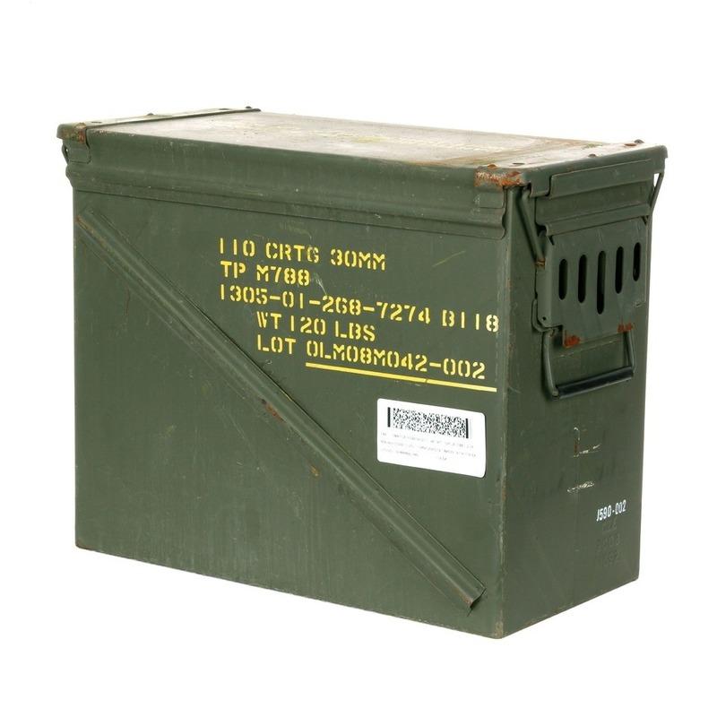 Industriele legerkist groen 48 cm